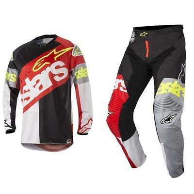 Alpinestars Racer Flagship Motocross Jersey and Trousers 2018 - Red White