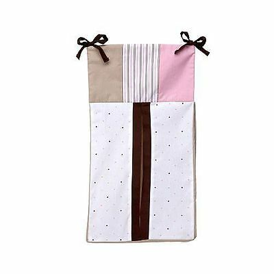 NEW Nautica Kids  ~ DIAPER STACKER ~ ISABELLA Pink Brown Stripe Dots