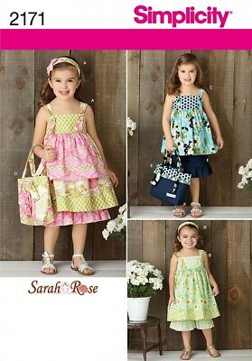 Simplicity Childrens Easy Sewing Pattern 2391 Pillowcase Dress Tops