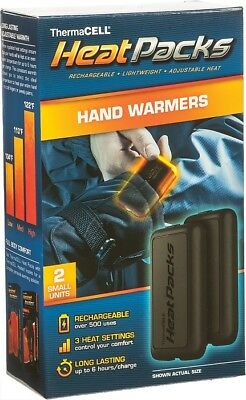 ThermaCELL Hand Warmers Rechargable Battery Powered PAIR PAK-S