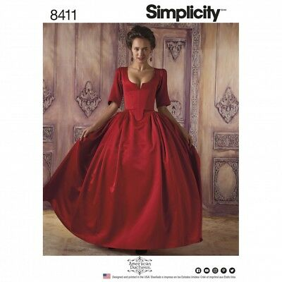 Simplicity Ladies Sewing Pattern 8411 18th Century Costume Dress (Simplicity-...