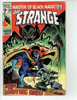 DOCTOR STRANGE #183 Marvel Silver Age Comic 1969 VG- Beware The Undying Ones!