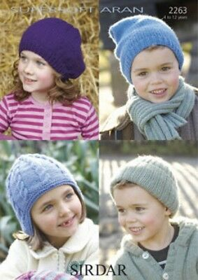 Sirdar Childrens Cardigans Supersoft Knitting Pattern 2263 Aran (Sirdar-2263)