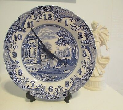 SPODE - BLUE ITALIAN - WALL CLOCK - Made in England - Working