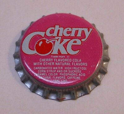 Vintage Cherry Coke..plastic..unused..Soda Bottle Cap