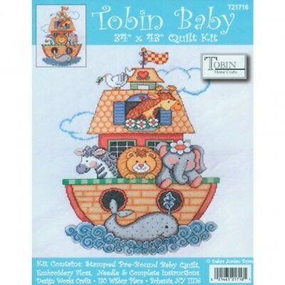 Tobin Baby Stamped Cross Stitch Kit Baby Quilt (T21716)