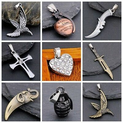 Cool 3D alloy pendant necklace Many styles to pick