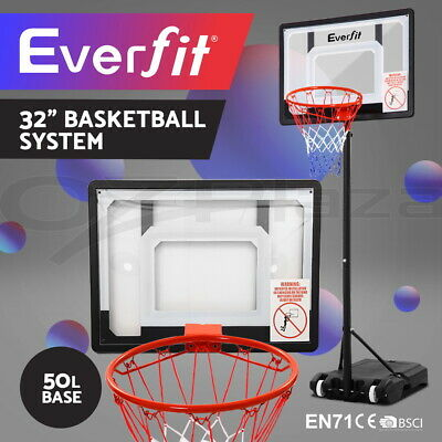 Everfit Pro Portable Basketball Stand System Hoop Height Adjustable Net Ring 210