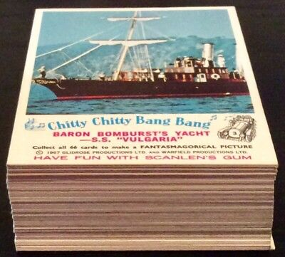 Scanlens Chitty Chitty Bang Bang Gum Trading Card Near Set 64/66 Near Mint/mint