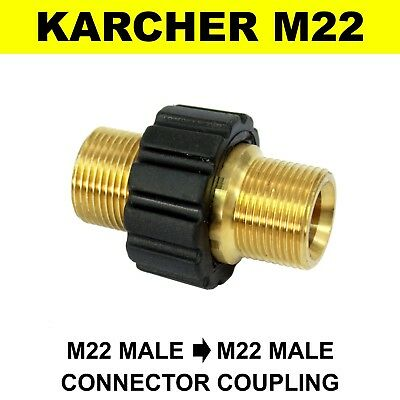 M22 Male Screw Thread 22mm KARCHER HD Type to M22 Male Grip Coupling Connector