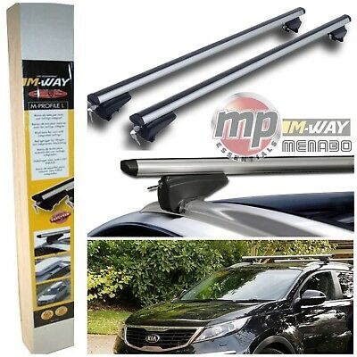 M-Way Lockable Aluminium Roof Rack Flush Rail Bars to fit Ford Tourneo Connect