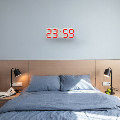 horloge mural a affichage digitale avec led rouge rectangulaire heure de bureau eur 38 90. Black Bedroom Furniture Sets. Home Design Ideas