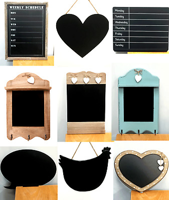 Vintage Rustic Wooden Chalkboard Memo Message Board Blackboard Chalk Board