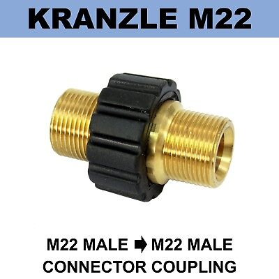 M22 Male Screw Thread 22mm KRANZLE Type to M22 Male Grip Coupling Connector