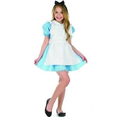 Childrens Girls Alice in Wonderland Fancy Dress Costume Childs Book Day Outfit f