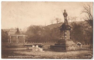 HAWICK South African War Memorial, Postcard by AR Edwards, Hawick Postmark 1923