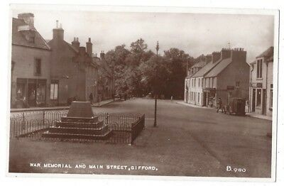 GIFFORD War Memorial and Main Street, RP Postcard by Valentine, Unused
