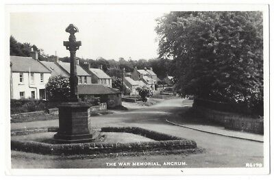 ANCRUM The War Memorial, RP Postcard by JB White, Unused