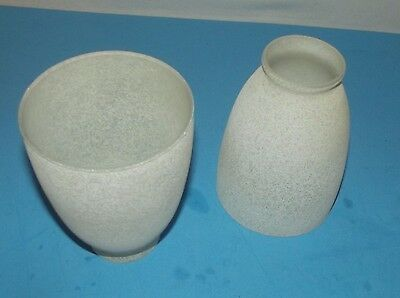 2 Replacement Light Globes Frosted White Bell Shape Vintage Art Deco Shade Lamp