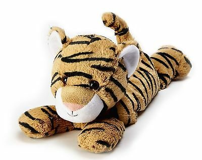Warmies Cozy Plush Laying Tiger Fully Microwavable Soft Heatable Bed Time Warmer