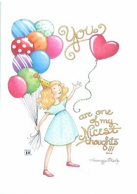 Mary Engelbreit-YOU ARE ONE OF MY NICEST THOUGHTS-Happy Birthday Card-NEW!