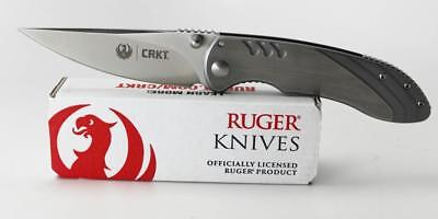 CRKT Ruger Trajectory Knife Stainless Handle 8Cr13MoV Plain Edge R2802