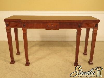 29579EC: Adam English Style Large Mahogany Console Table Sideboard
