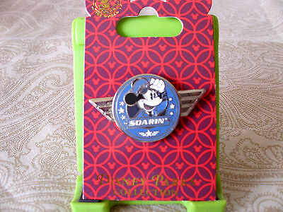 Disney * SOARIN' -  CAPTAIN MICKEY PILOT WINGS * New on Card Attraction Pin