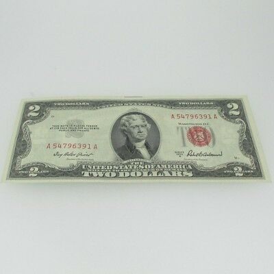 1953 A Red Seal United States Two Dollar Note 600557