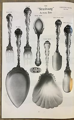 1898 Sales Catalog Reprint Gorham Sterling Silver Strasbourg Flatware 27 Pages