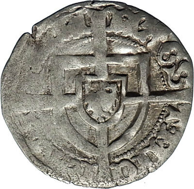 1414AD Medieval Germany TEUTONIC Knights ORDER Grand Master Silver Coin i66622