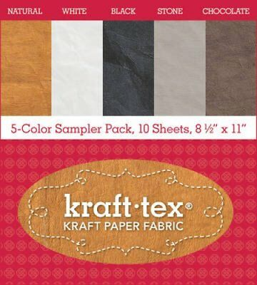 "kraft-tex (R) 5-Color Sampler Pack, 10 Sheets, 8 1/2"" x 11"" Kra... 9781617454714"