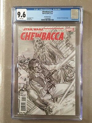 STAR WARS: CHEWBACCA #1, ROSS SKETCH VARIANT, CGC 9.6, New, Marvel (2015)