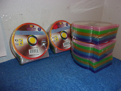 Brand New5 Packs Of 10 Slim Cd Shell See Through Poly Cases..total 50