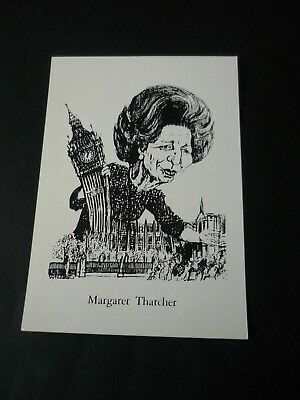 Scarce Margaret Thatcher French Limited Edition postcard, Big Ben