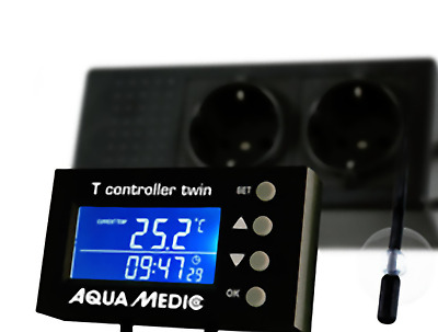 Aqua Medic T Controller Twin Digital Temperature Monitor Fish Tank Heating Cooli