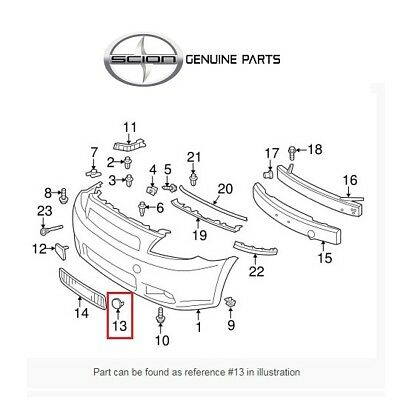 Genuine Toyota 52438-21010 Bumper Guard Cover