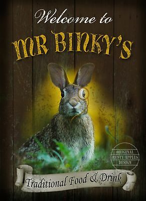 Mr Binky's Vintage Style Metal Pub  Sign  :3 Sizes  To Choose From