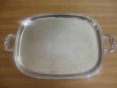 Wm.A ROGERS SILVERPLATE FOOTED SERVING TRAY MADE IN CANADA