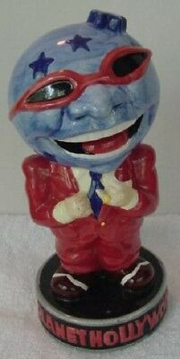 Planet Hollywood Souvenir Globe Head Figural Drinking Cup Vessel Or Vase Ceramic