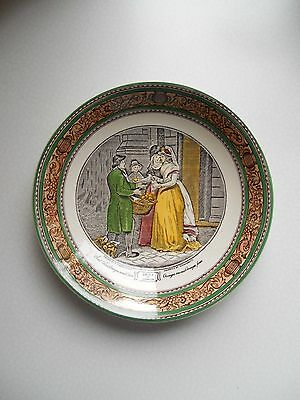 "Rare Assiette A Potage (Creuse) Faïence Adams "" Cries Of London"""