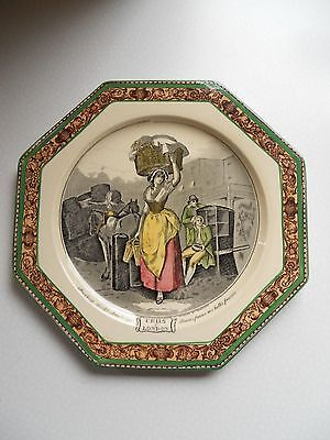 "Ancienne Assiette Octogonale Faïence Adams "" Cries Of London"""