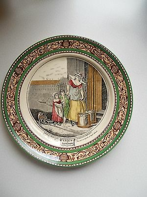"Ancienne Grande Assiette 25Cm Faïence Adams "" Cries Of London "" Tbe"