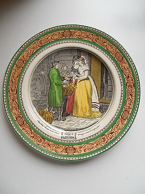 "Ancienne Grande Assiette 25Cm Faïence Adams "" Cries Of London """