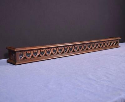 "41"" Antique French Shelf/Plate Rail in Solid Walnut Wood"