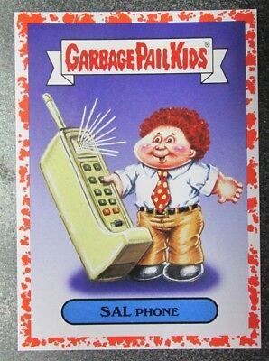 TOPPS 2018 GPK  We Hate The 80's Red parallel single SAL PHONE CULTURE  6A 01/75