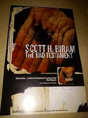 POSTER by SCOTT H BIRAM the bad testament promo For The bands tour album cd