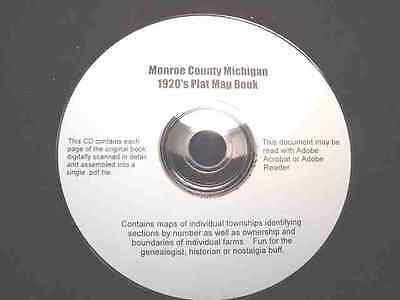 CD ~ 1930's Monroe County Michigan Plat Map Book