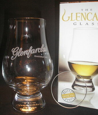 Glenfarclas Glencairn Scotch Malt Whisky Tasting Glass With Watch Glass Cover