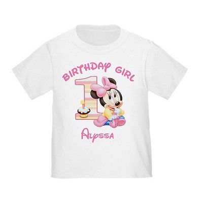 1st Birthday Girl Minnie Mouse First Personalized Shirt YOUR NAME
